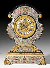 LARGE MANTEL CLOCK 'TETE DE POUPPEE', Louis XIV