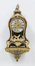 A BOULLE CLOCK ON PLINTH, Régence, Paris, 18th