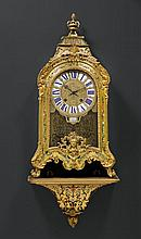 BOULLE CLOCK with plinth,Regence, the dial and