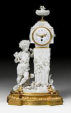 SMALL BISCUIT MANTEL CLOCK 'AU PETIT
