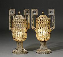 PAAR LAMPEN IN URNENFORM, Italien, Anfang 20.