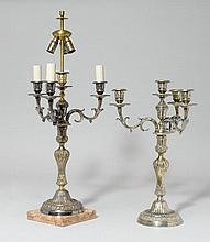 1 PAAR GIRANDOLEN, Louis XVI, 19. Jh.Bronze