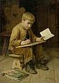 ANKER, ALBERT (1831 Ins 1910) Schreibender Knabe.