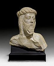 BUST OF CHRIST, PROBABLY ECCE HOMO, Spain,