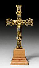 PROCESSIONAL CROSS, Limoges, early 13th century.