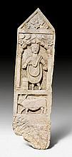 NARROW RELIEF FRAGMENT, Roman, Levant, 3rd century