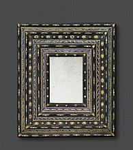 IMPORTANT MIRROR WITH SEMI-PRECIOUS STONES AND