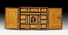SMALL CABINET, Baroque, probably Tyrol, 17th