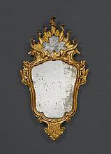 MIRROR, Louis XV, Venice, 18th century. Richly