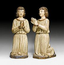 PAIR OF PRAYING ALTAR BOYS, Renaissance, Tuscany,