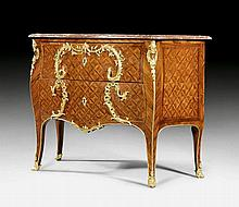 CHEST OF DRAWERS, Louis XV, stamped M. CRIAERD