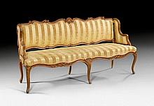 NARROW CANAPE, Louis XV, stamped TILLIARD