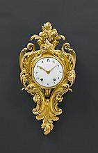 CARTEL CLOCK, Louis XV, the bronze stamped SOLON