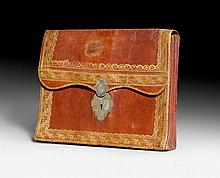 DIPLOMATIC POUCH, Louis XVI, inscribed MR. LE