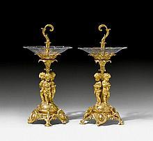 PAIR OF TABLE ORNAMENTS 'AUX ENFANTS', Napoléon