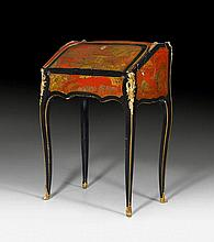 LACQUER LADY'S DESK, in the style of Louis XV,