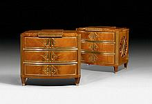 PAIR OF COMMODES, in the style of Louis XVI,