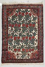 BACHTIAR old. White ground with floral motifs,