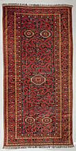 BESHIR antique. Red ground with five small