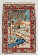 GHOM PICTORIAL CARPET old. City view with