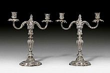 PAIR OF CANDELABRAS, Dresden 2nd half of the 18th
