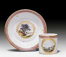 CUP AND SAUCER, Nymphenburg, ca. 1790.