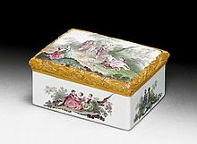 RARE ENAMEL SNUFF BOX, Berlin, signed by Isaak