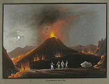 ITALY - NAPLES.- Anonymous, 19th century. Vesuvius