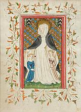 BOOK ILLUMINATION.- Page from a Book of Hours,