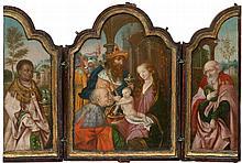 ANTWERPEN, 16. JAHRHUNDERT Triptychon: Anbetung