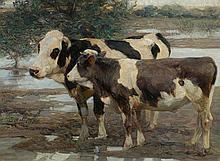 ZÜGEL, HEINRICH (1850 Munich 1941) Two cows in a