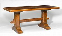 REFECTORY TABLE, Baroque style. Oak. Rectangular leaf. 180x80x