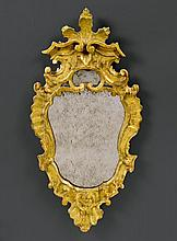 PAIR OF MIRRORS, Baroque, Veneto, 18th century. Wood, carved w