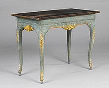 PAINTED GAMES TABLE, Baroque, Sweden, 2nd half of the 18th centur