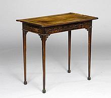 SMALL INLAID TABLE, George III, England, 18th century. Walnut