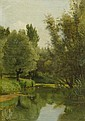RICHOMME, JULES (1818 Paris 1902) Flussufer im