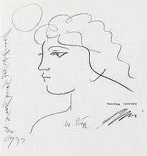 Erni, Hans, Maler (1909-). Eigenh. Widmung mit