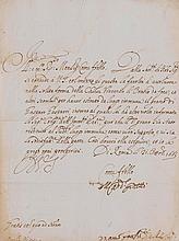 Ginetti, Marzio, Kardinal (1586-1671). Brief mit