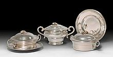 TWO LIDDED TUREENS AND A LIDDED VESSEL,Vienna, 1850 and 18