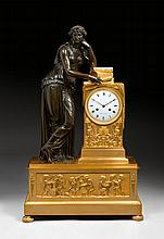 IMPORTANT MANTEL CLOCK 'L'ETUDE',Empire, the model by J.B.