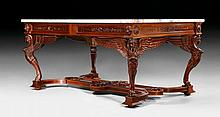IMPORTANT CENTER TABLE 'AUX SPHINGES',in the Empire style,