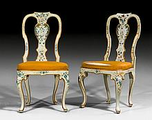 PAIR OF PAINTED CHAIRS, Baroque, Northern Italy, probably G