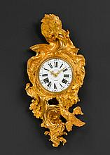 CARTEL CLOCK 'AUX ANIMAUX',Louis XV, the dial signed LOTTIN