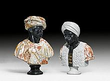 PAIR OF MARBLE BUSTS, Baroque style, probably Rome.Vari