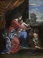 POUSSIN, NICOLAS (Les Andelys 1594 - 1665 Rom), Nachfolger Jungfrau mit Kind und Johannes dem Täufer. Öl auf Leinwand. 40 x 31 cm., Nicolas Poussin, Click for value