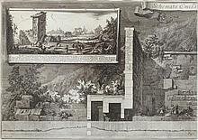 PIRANESI, GIOVANNI BATTISTA (Mogliano 1720 - 1778 Rome). Schemata