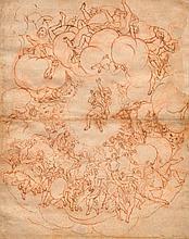 SCHOOL OF BOLOGNA, 17TH CENTURY Drawing after Correggio's cei