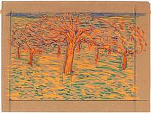SCHMIDT, ALBERT (1883 Geneva 1970) Meadow with flowering f