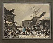 JAZET, JEAN PIERRE MARIE (1788 Paris 1871). Zwei