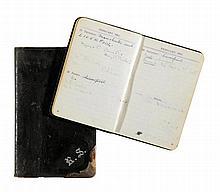 Scott, Robert, Polarforscher (1868-1912). Taschenkalender aus dem Besitz vo